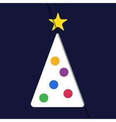 greeting card - Christmas white tree vector image