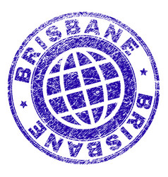Grunge textured brisbane stamp seal vector