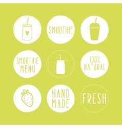 Hand drawn smoothie labels vector image