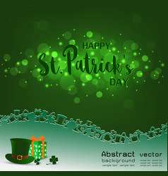 Happy stpatricks daylight with blurred bokeh on vector