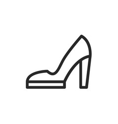 high heels icon vector image