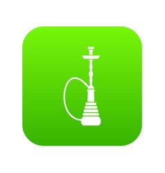hookah icon digital green vector image