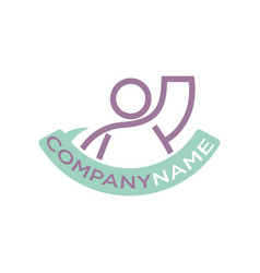 icon human raised hand up company template vector image