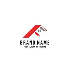 Letter f home logo design vector