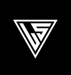 Ls logo monogram with triangle shape designs vector