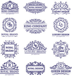 Luxury labels monochrome set vector