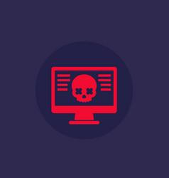 Malware computer virus cyber attack icon vector