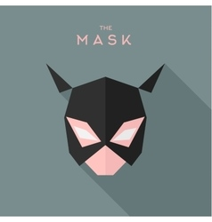 Mask girl Hero superhero flat style icon vector