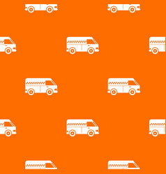 minibus taxi pattern seamless vector image