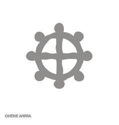 Monochrome icon with adinkra symbol ohene aniwa vector