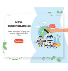 New technologies website homepage design vector