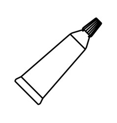 paint tube icon vector image