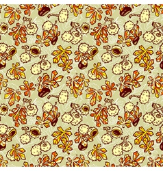 pattern with chestnut vector image
