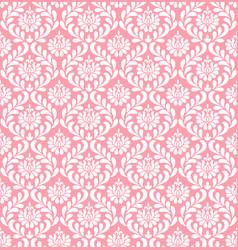 pink damask wallpaper vector image