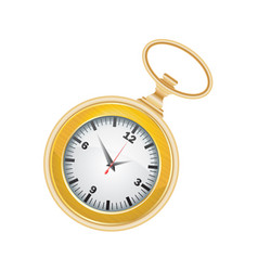 pocket watch golden vector image