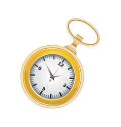 Pocket watch golden vector