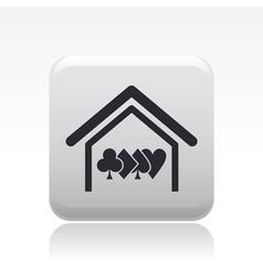 Poker house icon vector