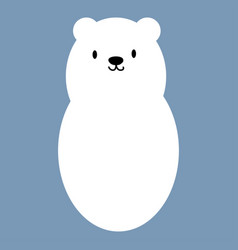 polar white bear icon symbol vector image