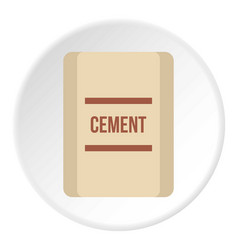 Pouch of cement icon flat style vector