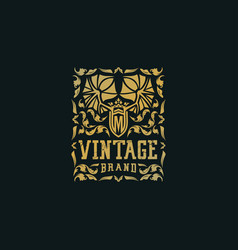 Premium luxury vintage logo ornament vector