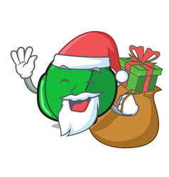 Santa with gift brussels mascot cartoon style vector