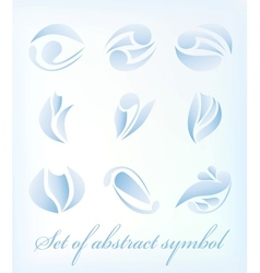 Set of abstract design element vector image
