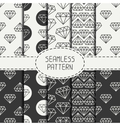 Set of monochrome hipster fashion geometric vector