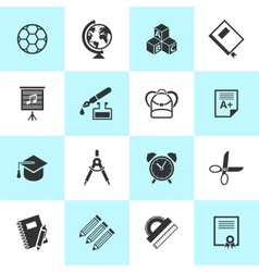 Set school and education icons vector