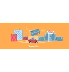 Shopping Tour Concept vector image