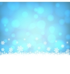snowflakes border with shiny blue background vector image
