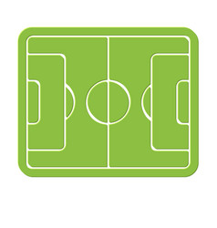 Soccer field marking logo empty stadium icon vector