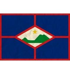 St Eustatius paper flag vector image