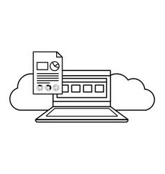 Technology laptop cartoon vector