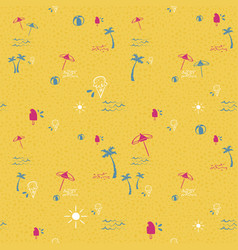 tropical beach summer seamless pattern background vector image