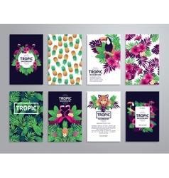 Tropical printable set vector