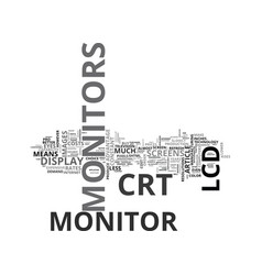 Which monitor should you buy text word cloud vector