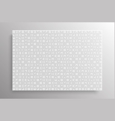 white pieces puzzle jigsaw banner rectangle frame vector image