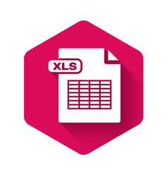 White xls file document download xls button icon vector