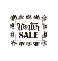 winter sale image vector image