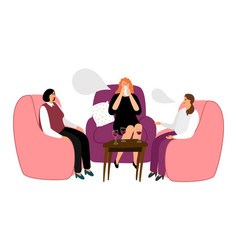 women drink wine and talk vector image
