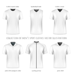 Collection of men sport clothes vector image