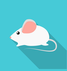house mouse icon in flate style isolated on white vector image