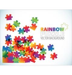 Rainbow puzzle background vector