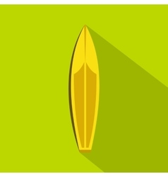 Surfboard icon flat style vector image vector image