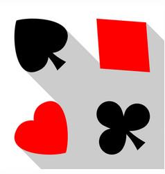 cards symbol background vector image