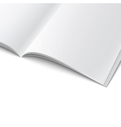 Close-up of blank opened magazine template vector image vector image