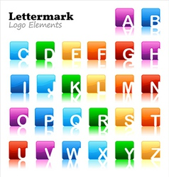 lettermark logo elements vector image vector image