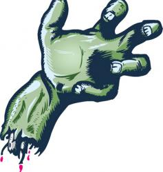 severed halloween style hand illustrat vector image vector image