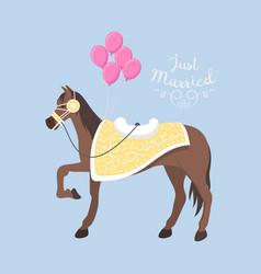 Wedding horse breed vector