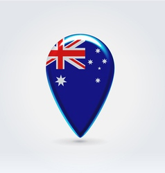Australian icon point for map vector image vector image